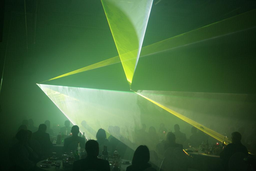 Pokaz laseróœ uświetnił uroczystość.